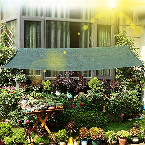 Luckyli Toldo De Vela De Parasol,Toldos De Bloque UV,Malla De Red para Sombrilla 80% Bloqueador Solar Parasoles De Jardín Permeables Al Agua De HDPE,para Plantas De Jardín Y Patio,3×5m