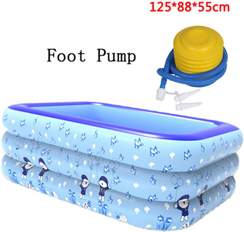 Bathtub Inflatable bathroom pool padded insulation baby swimming pool bathroom plastic folding tub barrel Inflatable bathtub ( color   Foot Pump )