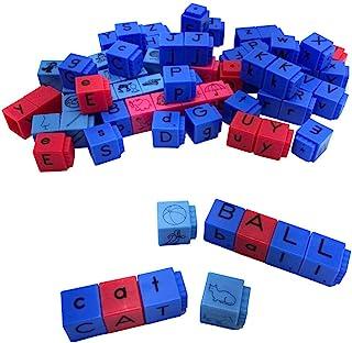 hand2mind - 60001C Reading Rods, Letter Blocks for Kids Ages 4-8, Alphabet Blocks, Phonemic Awareness Linking Cubes for Ea...