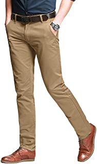 Men's Slim Tapered Stretchy Casual Pants #8105