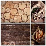Selens Fondo 2 en 1 Flat Lay 56 x 88 cm, vetas de madera oscura para fotografía, alimentos, cosméticos, tablero de fondo de doble cara, para productos cosméticos, fotografía de productos, póster.