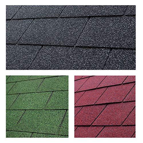 Bitumen Dachschindeln rechteckig schwarz...