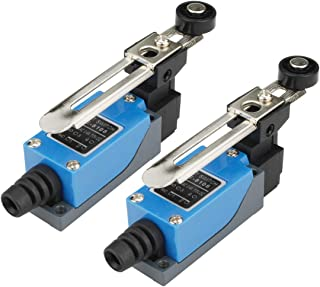 Electrical Buddy Adjustable Roller Lever Arm Momentary Limit Switch 1NC 1NO ME8108 2Pcs