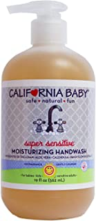 California Baby Super Sensitive Moisturizing Hand Wash (19 ounces) | 100% plant-based | No Fragrance | Gentle Cleanser with Pure Essential Oils | Skin Soft Calendula Extract