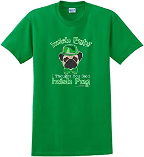 Irish Pub Thought Said Pug Funny St Patricks Dog T-Shirt