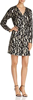 Vero Moda Women's Romeo Foil Print Wrap Dress