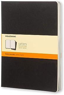 Moleskine Cahier Notebook - Set of 3 - Ruled - Extra Large - Black, (QP321)