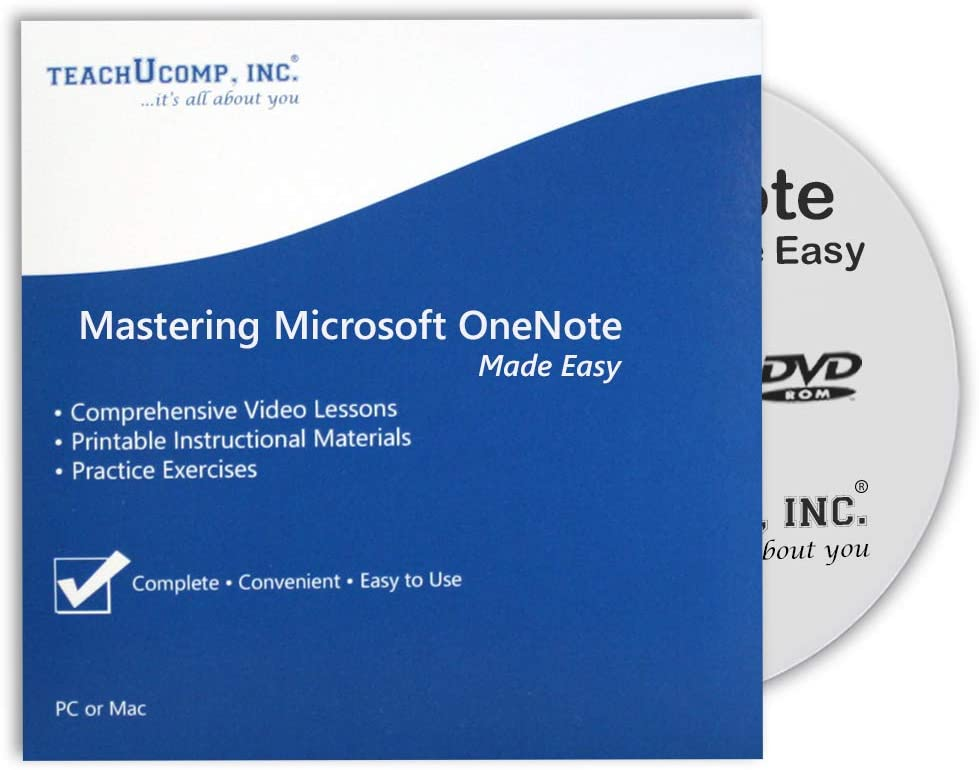 Mastering OneNote One Note Made Easy Trai 2007 All items in the store v. 2010 Max 68% OFF Video