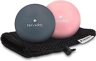 comprar comparacion Navaris Set de 2 Bolas para masajes - Bolas de lacrosse para automasajes - 2 Pelotas para fisioterapia crossfit terapia de...