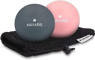 Navaris Set de 2 Bolas para masajes - Bolas de lacrosse para