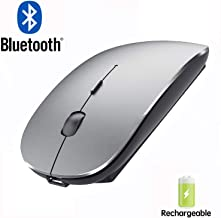 Bluetooth Mouse for iPad and iPhone (iPadOS 13 / iOS 13 and Above) Rechargeable Wireless Bluetooth Mouse for MacBook pro Air Laptop MacBook Mac Windows(Grey)