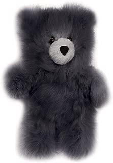 Baby Alpaca Fur Teddy Bear - Hand Made 10 Inch Grey