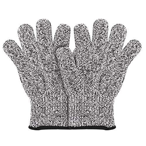 fanshiontide Schnitzhandschuhe Kinder, Schnittsichere Handschuhe der Leistungsstufe 5 für 5-8 Lebensmittelecht(S)