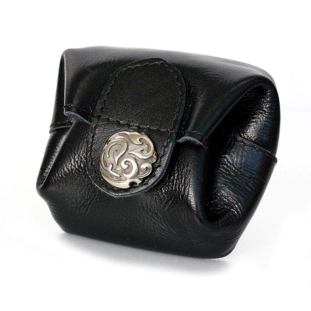 ベイビー宗教地理DaysArt(デイズアート)本革 ボタン式 レザーコインケース メタルコンチョ 小銭入れ 財布 がま口 巾着