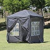 TUKAILAI Portable 3x3m Heavy Duty Pop Up Gazebo Garden Gazebo Awning Canopy Shelter