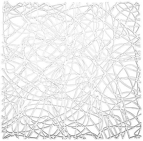 WENKO Tappetino lavello Cross trasparente, Plastica, 30.5 x 30.5 cm, Trasparente
