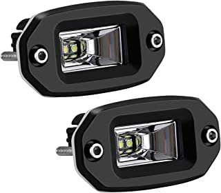 KAWELL 2 Pack 20W Flood Cree Led Light Bar Flush Mount Led Pods Off Road Backup Driving Lights Fog Lamp for Jeep ATV 4X4s SUV Truck Boat