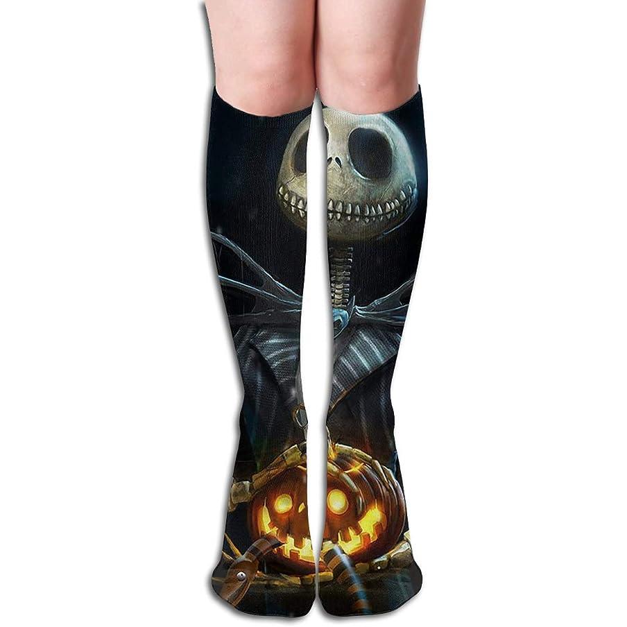 マイル仮定する爆弾qrriyジャックスキレントンチューブストッキングレディース冬暖かい膝ハイソックスブーツ靴下