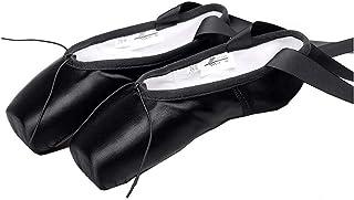 Wmk Zapatos de Ballet Práctica Vendaje Zapatos del Funcionamiento de la Danza Los niños Zapatillas de Punta Inferior del D...
