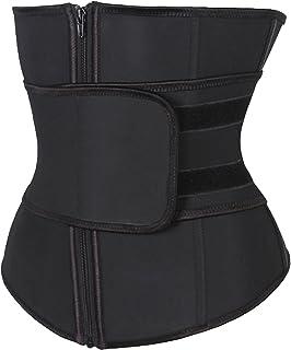 KIWI RATA Abdominal Belt High Compression Zipper Neoprene Waist Trainer Cincher Corset Body Fajas Sweat