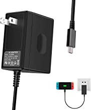 Switch Charger for Nintendo Switch - Type-C AC Adapter Fast Charging Portable Charger 15V/2.6A (Support TV Mode) Power Supply with 5 FT Thicken Cord