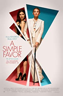 A SIMPLE FAVOR MOVIE POSTER 2 Sided ORIGINAL FINAL 27x40 ANNA KENDRICK BLAKE LIVELY
