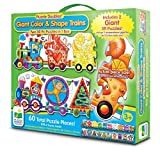 The Learning Journey Puzzle Doubles - Giant Colors and Shapes Train Floor Puzzle, Multi by The Learning Journey International