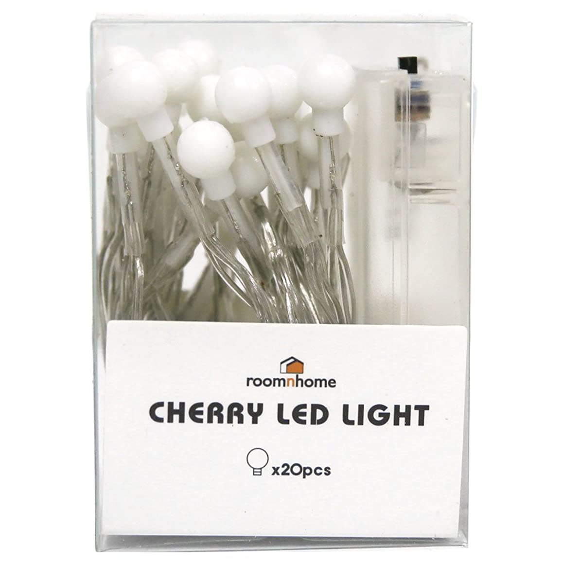 回路狂信者有害ルームアンドホーム ライト LED チェリー さくらんぼ 20個 ホワイト 1cm 電池式