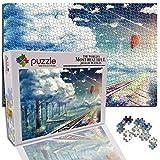 GFSJJ Puzzle 1000 Piezas para Infantiles Niño Adultos Adolescentes Fantasía De Rieles del Bosque Puzzle Adultos Niños Navidad Juguetes (20.5 X 15 Pulgada)