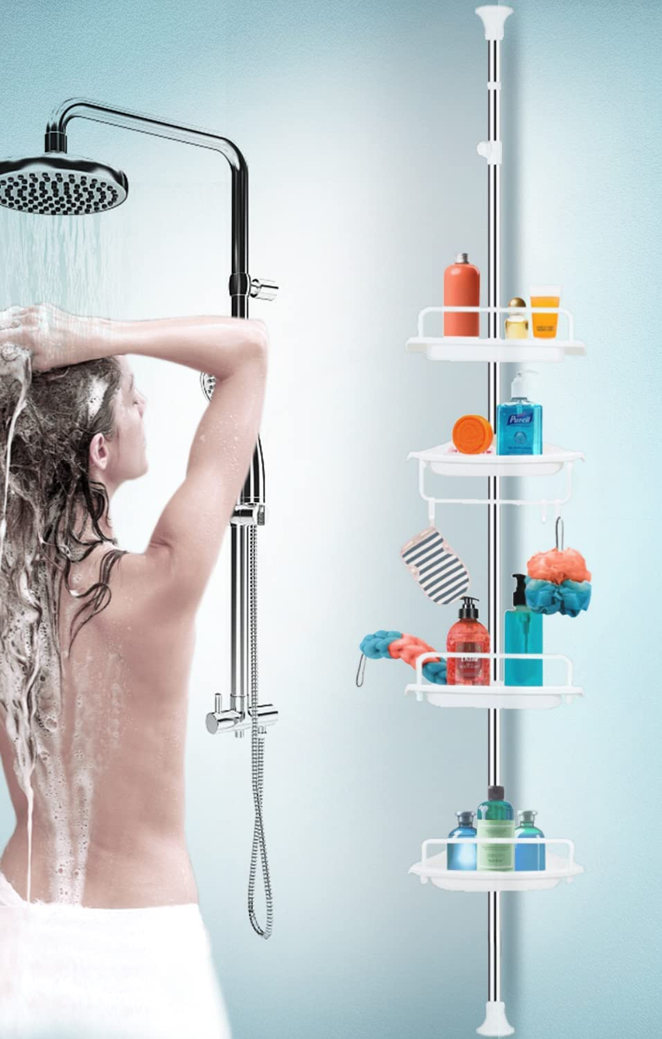 Strong Shower Storage Ranking TOP9 Caddy 2021new shipping free shipping Sturdy Tension Rack Corner Comm Pole