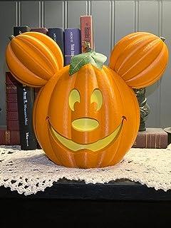 Halloween Mickey Pumpkin Lights - Indoor and Outdoor Holiday Decorations Luminous Pumpkins, Pumpkin Grimace Decorations Ho...