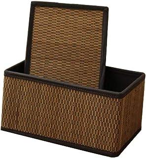 MAHFEI Corbeilles De Rangement Boîte De Rangement Snack Vêtements Jouet avec poignée Bambou Fait Main Lisse Grande Capacit...