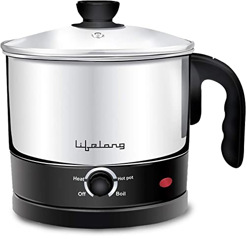 Lifelong Multifunction Cooker Kettle 1 5 litres Best for Boiling Milk Eggs Soup and Maggi Noodles