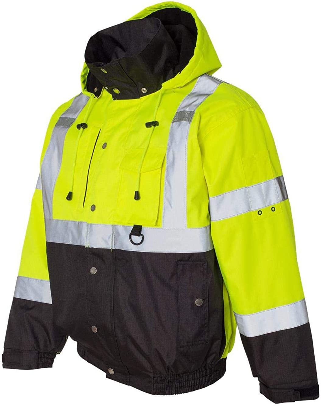 ML Kishigo Hi-Vis Jacket unisex shipfree Black Lime 4XL