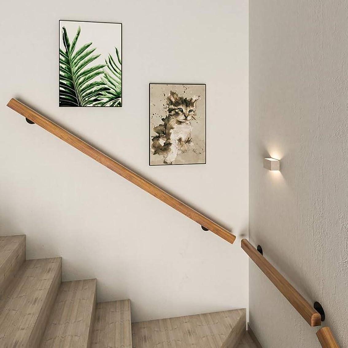 政治重要性雪だるま手すり 障害者、高齢者や子供のために適した屋内と屋外のヨーロピアンスタイルの木製の壁階段の手すり、壁の手すり、階段の手すり、オプションのサイズ (Size : 200CM)