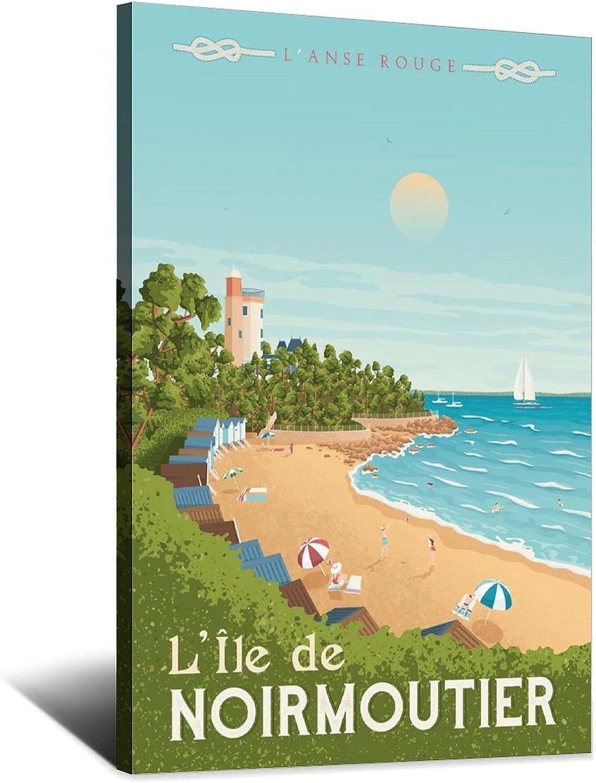 Regular discount WEIHO Vintage Travel Poster ILE Bedroom Free shipping De Decor NoirmoutierRoom