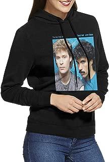 EdithL Womens Hall & Oates The Very Best of Daryl HallJohn Oates Hoodies Hooded Sweatshirt Black
