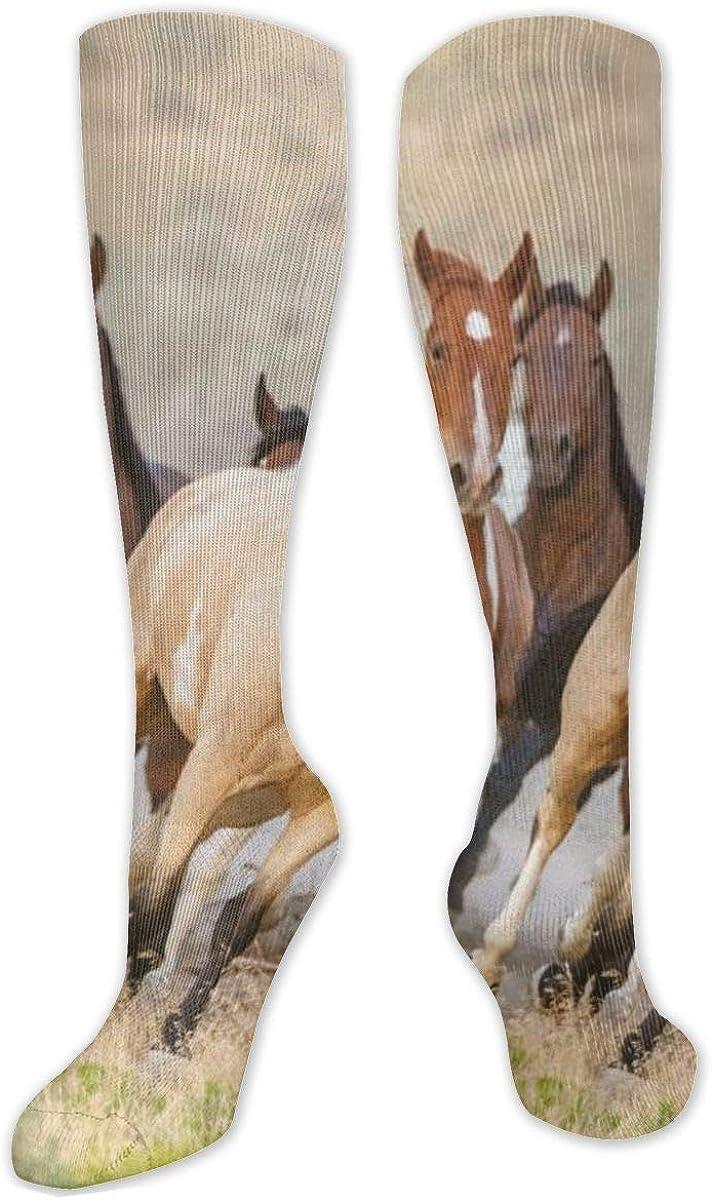 Running Horse Knee High Socks Leg Warmer Dresses Long Boot Stockings For Womens Cosplay Daily Wear