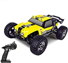KRCT 40km/h High Speed Racing Car 4WD Powerful Remote Control Off Road Vehicle 1/12 Scale 2.4GHz RC Rally Truck Toy with LED Headlight and Rechargeable Battery (Size : 3 Battery)