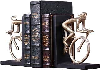 SANDM Retro Resina Bicicleta Decoración sujetalibros, Oficina Ornamentos Decorativos Sujetalibros de Arte Sujetalibros Escritorio Uso en una estantería de Escritorio-A