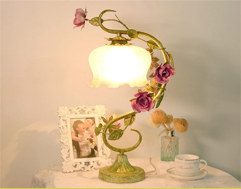 TOYM UK-Eisen retro dekorative dekorative dekorative Lampe stieg Schlafzimmer Nachttischlampe B01CCQ8PPG     Lassen Sie unsere Produkte in die Welt gehen  02684a