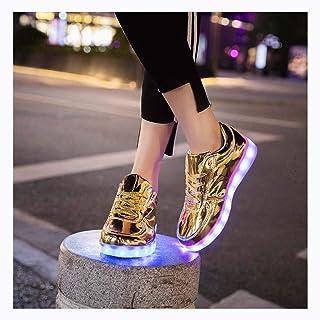 WXBXIEJIA Scarpe di Ricarica USB Scarpe Leggere a LED superfici Sneakers Traspiranti incandescenti Lampeggianti Sneakers B...