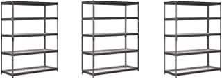 Edsal TRK-602478W5 Heavy Duty Steel Shelving In Black 60x24x78 inches (Pack of 3)