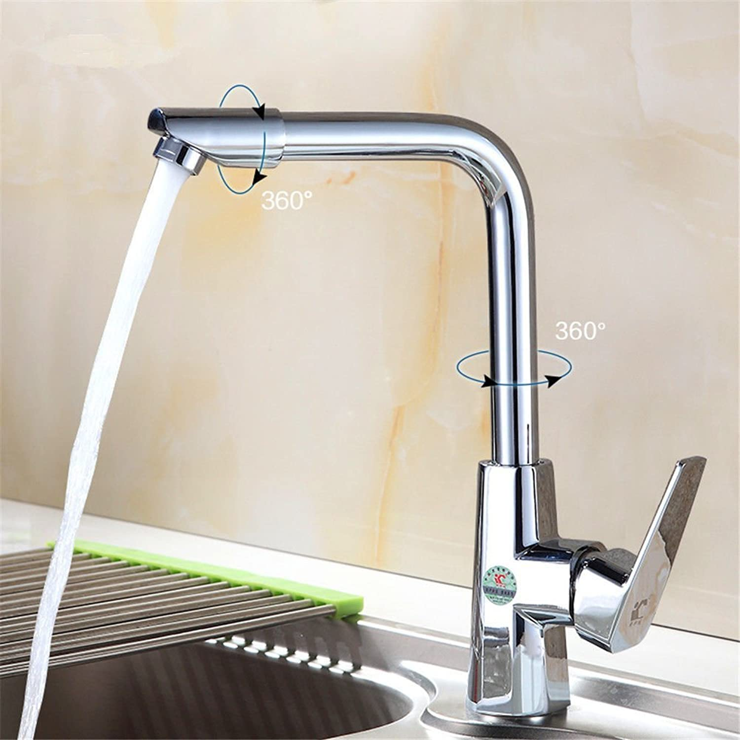 Oudan Basin Mixer Tap Bathroom Sink Faucet Kitchen faucet hot and cold dishes and wash basin sink basin single hole full copper Water mixing valve cooking 000 to redate