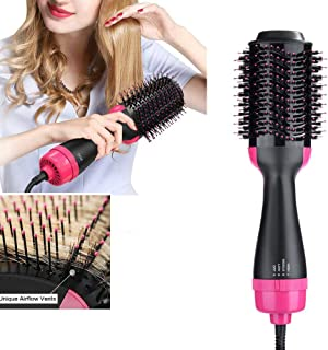 Dricar One Step Hair Dryer & Volumizer, Hot Air Brush Multi-Functional Straightening & Curly Hair Brush with Negative Ion Hair Care, Salon Styling 110V, UL Swivel Wire