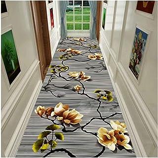 Non-Slip Carpet YANZHEN Hallway Runner Rugs No Shedding Noise Reduction Front Door Mat Moisture-Proof Non-Slip Floral Prin...
