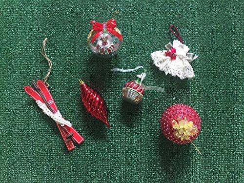 La Favola Incantata - 24 ADDOBBI Natalizi Assortiti Diversi Palla di Natale Decorazione Natalizia INTROVABILI Handmade Artigianali Casuali Made in Italy Colore Rosso