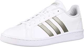 adidas Women's Grand Court, Platino Metallic/White, 7.5 M US