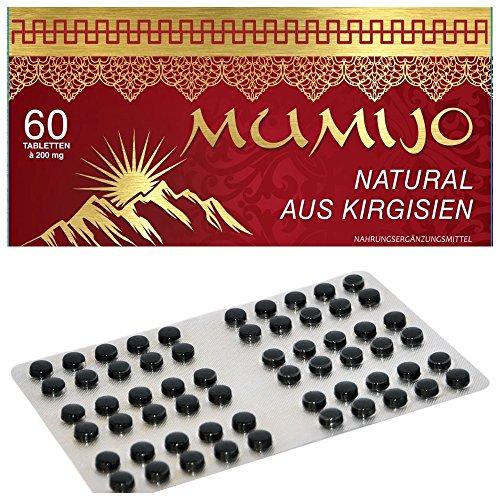 MUMIJO 100% Natural - Original aus Kirgisistan(Kirgisien) - Мумиё (MINERALERDE,Mumie, Mumijo), 60 Tabletten