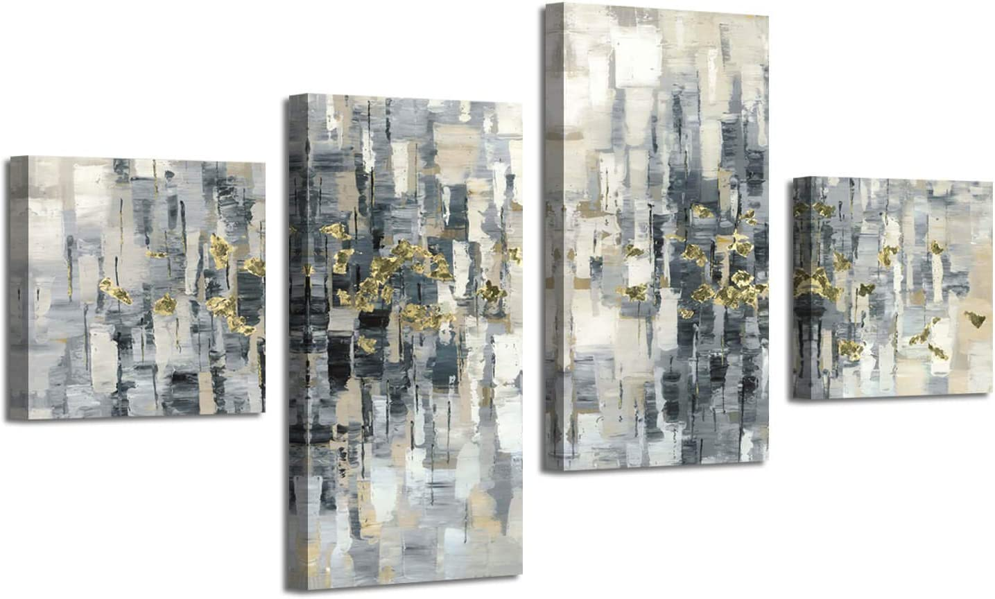 ARTISTIC PATH Abstract Picture Canvas Genuine Wall Geometric Max 40% OFF Art: Gray A